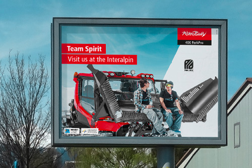 architektur messebau messe interalpin pistenbully