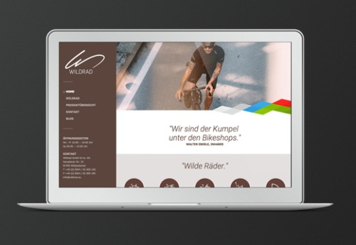 wildrad website design kreation